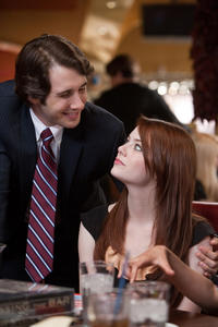 Josh Groban as Richard and Emma Stone as Hannah in