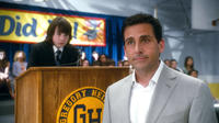 Jonah Bobo as Robbie and Steve Carell as Cal Weaver in