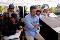 Writer Dan Fogelman, director Glenn Ficarra, producer Denise Di Novi and director John Requa on the set of