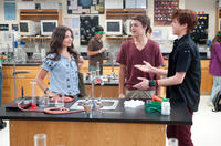 Danielle Campbell, Nolan Sotillo and Cameron Monaghan in