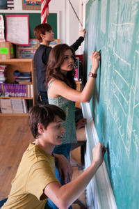Cameron Monaghan, Danielle Campbell and Nolan Sotillo in