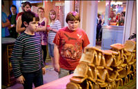 Zachary Gordon as Greg Heffley and Robert Capron as Rowley in