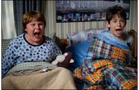 Robert Capron as Rowley and Zachary Gordon as Greg Heffley in