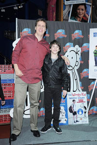 Executive Producer, Book Author Jeff Kinney and Zachary Gordon at the New York premiere of