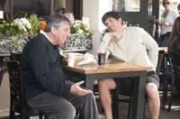 Director/producer Ivan Reitman and Ashton Kutcher on the set of