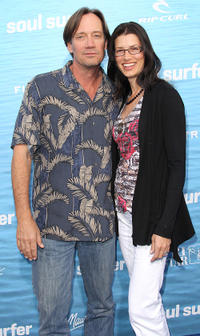 Kevin Sorbo and Guest at the California premiere of