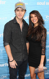 Jeremy Sumpter and Guest at the California premiere of