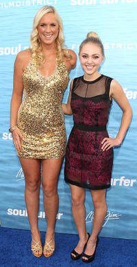 Surfer Bethany Hamilton and AnnaSophia Robb at the California premiere of