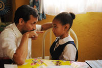 Jesse Borrego as Fabio and Amandla Stenberg as Young Cataleya in
