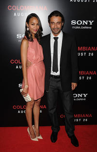Zoe Saldana and Jordi Molla at the California premiere of