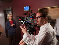 Nicolas Winding Refn on the set of