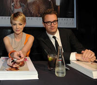 Carey Mulligan and director Nicolas Winding Refn at the Comic-Con 2011 of