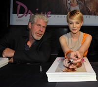 Ron Perlman and Carey Mulligan at the Comic-Con 2011 of
