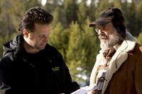 Director Richard Gabai and Christopher Lloyd on the set of