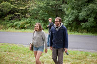 Elizabeth Olsen and writer/director Sean Durkin on the set of