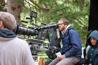 Writer/director Sean Durkin on the set of