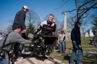 Director Stephen Daldry on the set of