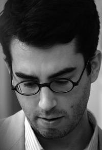 Author Jonathan Safran Foer on the set of