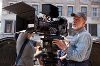 Director Chris Menges on the set of