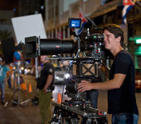 Director Daniel Espinosa on the set of
