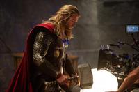 "Chris Hemsworth on the set of ""Thor: The Dark World."""