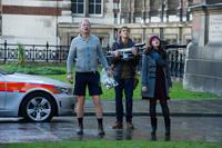 "Stellan Skarsgard, Jonathan Howard and Kat Dennings in ""Thor: The Dark World."""