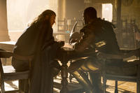"Chris Hemsworth as Thor and Idris Elba as Heimdall in ""Thor: The Dark World."""
