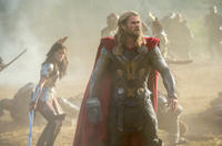 """Jaimie Alexander as Sif and Chris Hemsworth as Thor in """"Thor: The Dark World."""""""
