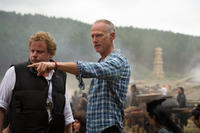 """Director Alan Taylor on the set of """"Thor: The Dark World."""""""