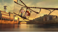 """Penny voiced by Ariel Winter and Sherman voiced by Max Charles in """"Mr. Peabody & Sherman."""""""