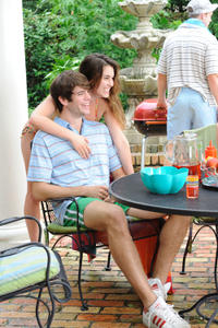 Rainey Qualley as Maddie Fine and Richard Kohnke as Earl in