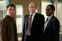 "Tom Cruise as Reacher, Richard Jenkins as Rodin and David Oyelowo as Emerson in ""Jack Reacher."""