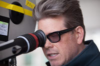 """Director Christopher McQuarrie on the set of """"Jack Reacher."""""""