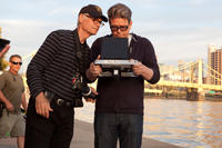 """Director of photography Caleb Deschanel and director Christopher McQuarrie on the set of """"Jack Reacher."""""""