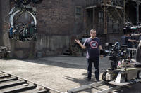 Director Joe Russo on the set of
