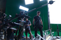 Frank Grillo on the set of