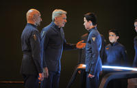 Ben Kingsley, Harrison Ford, Asa Butterfield and Aramis Knight in
