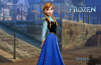 Anna voiced by Kristen Bell in