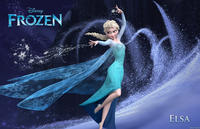 Elsa voiced by Idina Menzel in