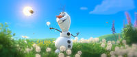Olaf voiced by Josh Gad in