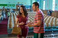 Salma Hayek as Roxanne Feder and Adam Sandler as Lenny Feder in