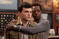 Alden Ehrenreich as Ethan Wate and Viola Davis as Amma in