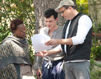 Viola Davis, Alden Ehrenreich and Director Richard LaGravenese on the set of