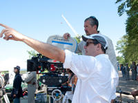 Director Richard LaGravenese on the set of