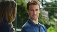 Sarah Megan Thomas as Abigail Brooks and James Van Der Beek as Geoff in