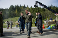 Director Gareth Edwards on the set of