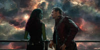 Zoe Saldana and Chris Pratt in