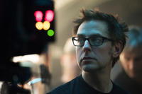 Director James Gunn on the set of