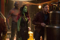 David Bautista, Zoe Saldana and Chris Pratt in