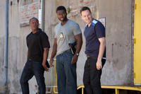 Malcolm Goodwin as AD, 50 Cent as Malo and Ryan O'Nan as Lucas in